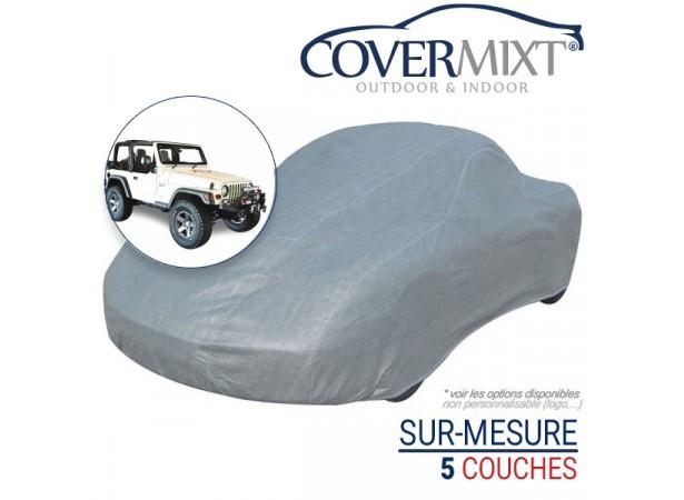 Housse protection voiture sur-mesure 4x4 Jeep Wrangler TJ (2003/2006) - Covermixt