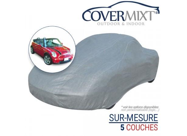Housse protection voiture sur-mesure Mini Cooper cabriolet de (2005/2008)- COVERMIXT 4/5