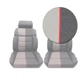 Coiffes de siège avant en tissu ramier Peugeot 205 CTI