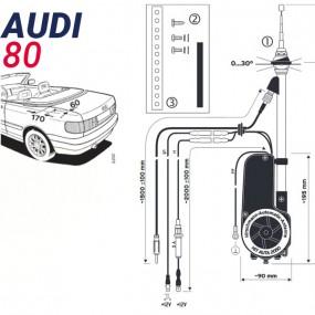 Antenne motorisée électrique Audi 80 - HIRSCHMANN HIT 2050