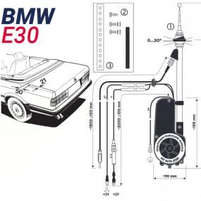 Antenne motorisée électrique BMW E30 - HIRSCHMANN HIT 2050
