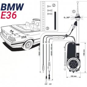 Antenne motorisée électrique BMW E36 - HIRSCHMANN HIT 2050