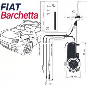 Antenne motorisée électrique Fiat Barchetta - HIRSCHMANN HIT 2050