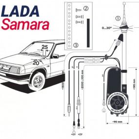 Antenne motorisée électrique Lada Samara - HIRSCHMANN HIT 2050