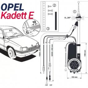 Antenne motorisée électrique Opel Kadett E - HIRSCHMANN HIT 2050