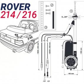 Antenne motorisée électrique Rover 214 / 216 - HIRSCHMANN HIT 2050