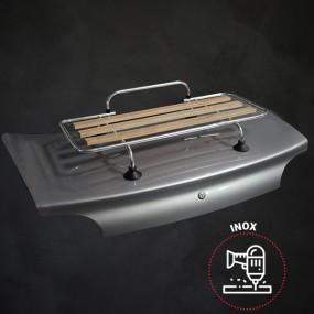 Kit porte-bagages bois Véronique 3 barres inox percement + ventouses