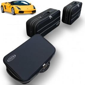 Bagagerie sur-mesure ensemble de 3 valises coffre Lamborghini Gallardo - en cuir