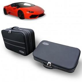 Jeu de 2 valises sur-mesure coffre Lamborghini Huracán - en cuir