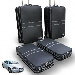 Bagagerie sur-mesure ensemble de 4 valises coffre Volvo C70 II - en cuir
