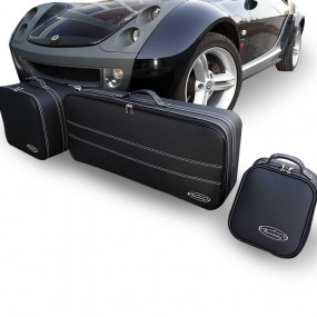 Bagagerie sur-mesure ensemble de 3 valises de coffre Smart Roadster