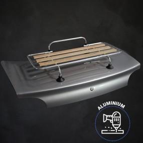 Kit porte-bagages bois Véronique 3 barres Aluminium percement + ventouses