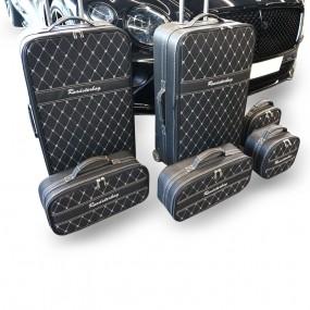 Bagagerie sur-mesure ensemble de 6 valises pour le coffre de Bentley GTC 2019+ en cuir