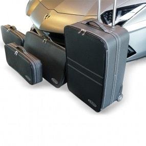 Bagagerie sur-mesure ensemble de 4 valises pour Lamborghini Aventador coupé 2015+ en cuir