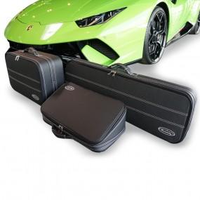 Bagagerie sur-mesure ensemble de 3 valises pour Lamborghini Huracan coupé 2014/2019 en cuir