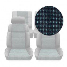 Garnitures siège avant et arrière en tissu quartet vert 205 GTI