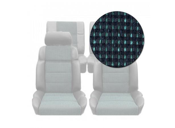 Garnitures siège avant et banquette arrière en tissu quartet vert 205 GTI
