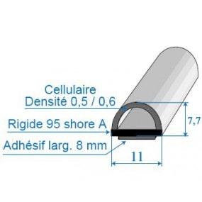 Joint bi-dureté avec face adhésive - 11 x 7,7 mm