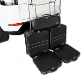 Bagagerie sur-mesure ensemble de 5 valises pour Range Rover Evoque cabriolet