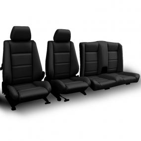 Garnitures de sièges BMW E30 cabriolet en Simili cuir noir