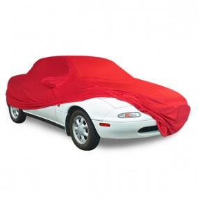 Bâche protection intérieure sur-mesure Mazda MX-5 NA en Jersey Coverlux rouge