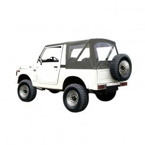 Capote Samurai SJ410 cabriolet caisse courte en vinyle denim kaki