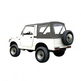 Capote Samurai SJ413 cabriolet caisse courte en vinyle denim kaki