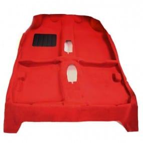 Revêtement en moquette thermoformée rouge pour Peugeot 205 GTI phase 2 (1987-1998)