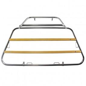 Porte-bagages sur-mesure chromé traverses bois Volkswagen Coccinelle