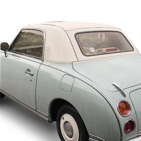 Capote, dessus de toit Nissan Figaro cabriolet en Vinyle Blanc