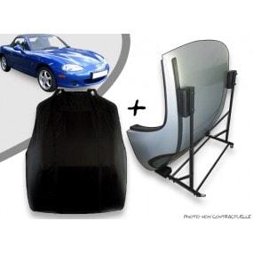 Kit housse de hard top pour Mazda MX-5 + chariot de rangement