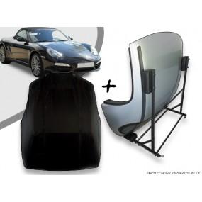 Kit housse de hard top pour Porsche Boxster 987 + chariot de rangement