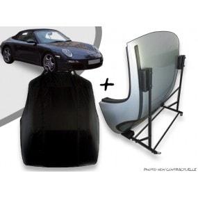 Kit housse de hard top pour Porsche 997 + chariot de rangement