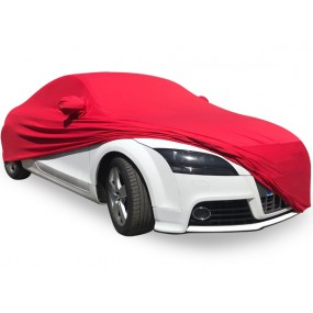 Bâche protection Audi TT 8J en Jersey rouge (Coverlux) pour garage