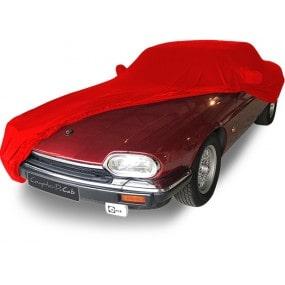 Bâche protection intérieure sur-mesure Jaguar XJS en Jersey Coverlux - rouge