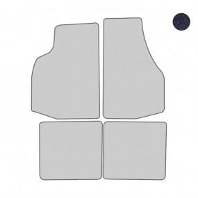 Jeu de 4 tapis de sol bleu foncé Coverlux pour VW Golf 1 cabriolet en velours