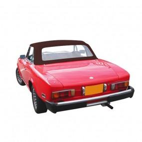 Capote marron pour Fiat 124 CS1 (1400-1600-1800) cabriolet en Alpaga Stayfast®