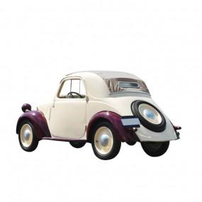 Capote beige Simca 5 cabriolet en vinyle sur toile coton
