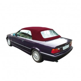 Capote bordeaux Bmw E36 cabriolet en Alpaga Twillfast® II sans poches latérales