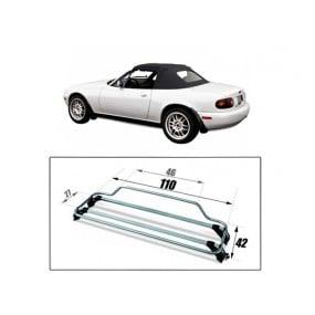 Porte-bagages pour Mazda MX5 NB Riviera finition Inox