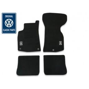Tapis sur-mesure VW Classic Parts® GOLF 1 cabriolet en moquette velours (avant + arrière)