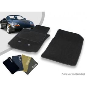 Tapis auto avant sur-mesure Porsche Boxster 986 cabriolet moquette aiguilletée surjetée
