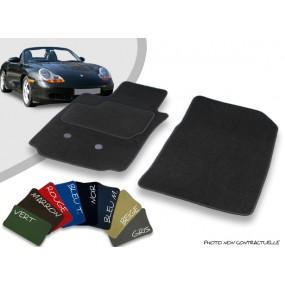 Tapis auto avant sur-mesure Porsche Boxster 986 cabriolet velours bordé