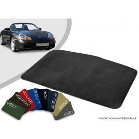 Tapis coffre sur-mesure Porsche boxster 986 cabriolet velours bordé