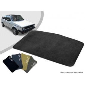 Tapis coffre sur-mesure Volkswagen Golf 1 cabriolet moquette aiguilletée surjetée