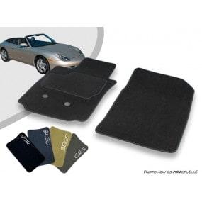 Tapis auto avant sur-mesure Porsche 996 cabriolet (1999-2001) moquette aiguilletée surjetée