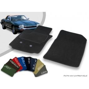 Tapis auto avant sur-mesure Jaguar XJS cabriolet velours bordé