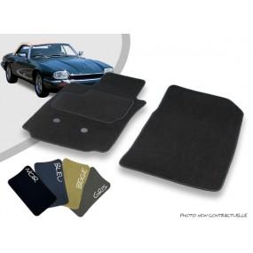 Tapis auto avant sur-mesure Jaguar XJS cabriolet moquette aiguilletée surjetée