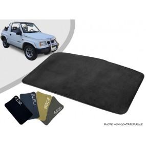 Tapis coffre sur-mesure Suzuki Vitara MK1 cabriolet moquette aiguilletée surjetée
