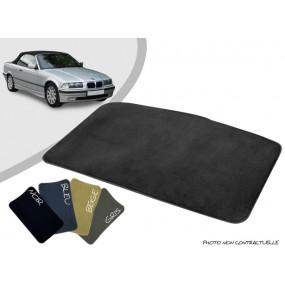 Tapis coffre sur-mesure BMW E36 cabriolet moquette aiguilletée surjetée